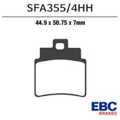 EBC SFA355/4HH SİNTERLİ BALATA ÖN JOYMAX250 (4 ADET BALATA)