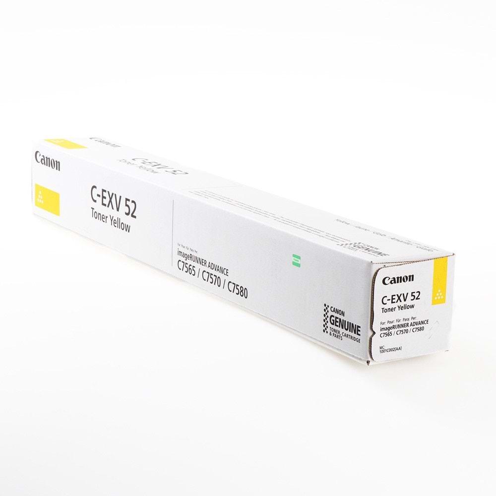 CANON C-EXV-52Y IR-7565/7570/7580/7700/7765/7770/7780 SARI TONER ORJİNAL 66.500 SAYFA 1001C002