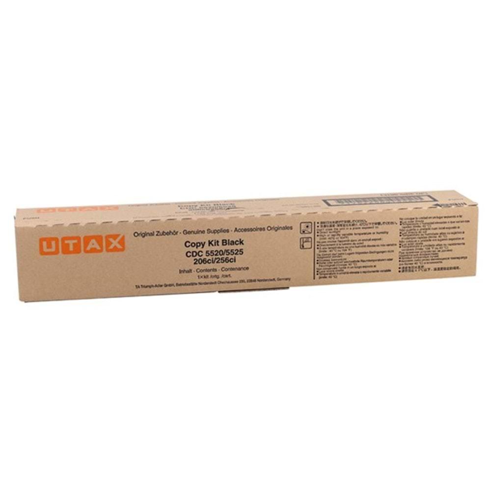 UTAX CDC-5520 CDC-5525-206Cİ-256Cİ T.A.6520 SİYAH TONER ORİJİNAL 12.000 SAYFA 652511010
