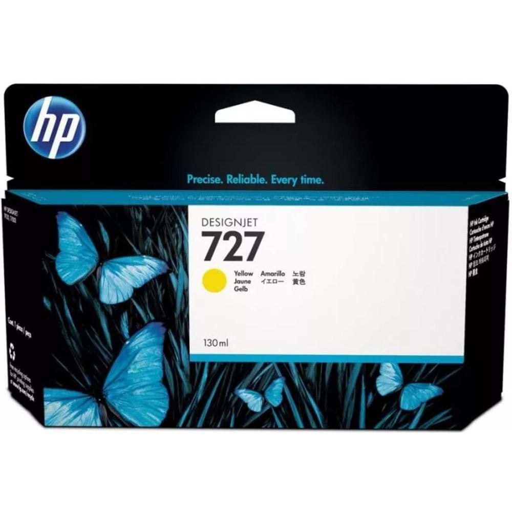 HP B3P21A 727 T920/T1500/T1530/T2500/T2530 130ML SARI KARTUŞ ORJ