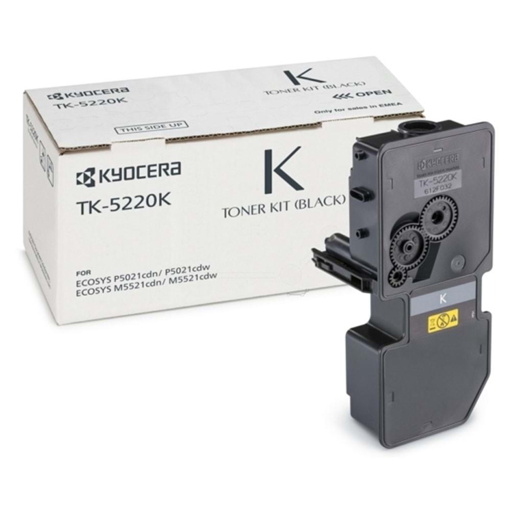 KYOCERA TK-5220K P5021/M5521 SİYAH TONER ORJİNAL 1.200 SAYFA 1T02R90NL1