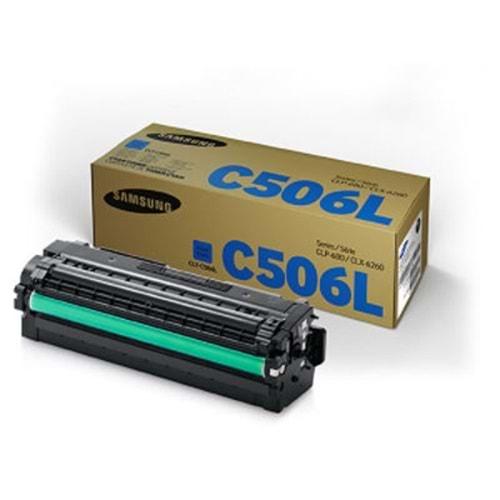 SAMSUNG CLT-C506L CLX-6260/CLP-680 MAVİ TONER ORJİNAL 6.000 SAYFA SU040A