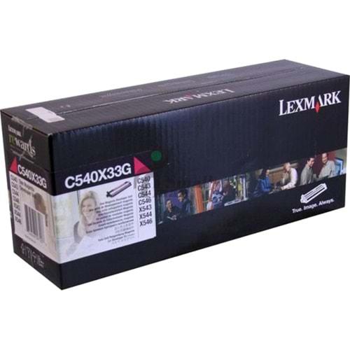 LEXMARK C540X33G C-X 540/543/544/546 KIRMIZI DEVELOPER ORJ 30K