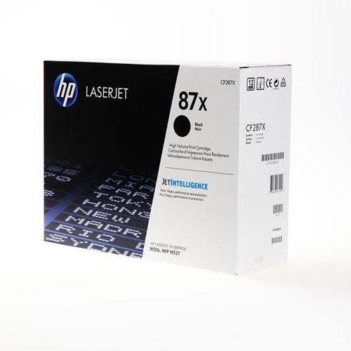 HP CF287X (87X) M501/506/527 SIYAH TONER ORJİNAL 18.000 SAYFA