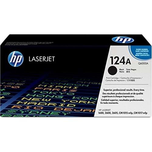 HP Q6000A (124A) 1600/2600/2605/CM1015 SİYAH TONER ORJİNAL 2.500 SAYFA